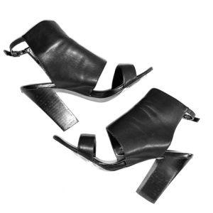 """Black leather bootie - 4"""" Heels"""